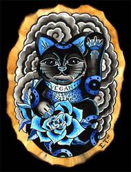 Lucky Vegan Cat by MummysLittleMonster
