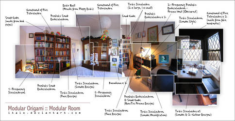 modular origami : modular room by italo