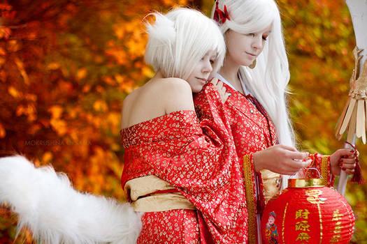 Kitsune - demon foxes by AlexReiss