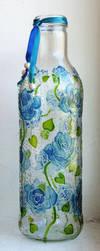 Blue Roses Bottle by bellekaX