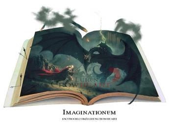 Epic magic book: Imaginationem by LukenCrowheart