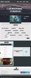 Website Template: Epic Music Template by LukenCrowheart