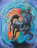 Aljan Brings the Fire by WolfenM