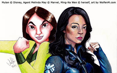 Disney and Marvel: Mulan and Agent May by WolfenM