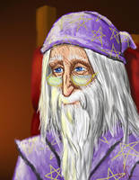 A Portrait of Dumbledore by WolfenM