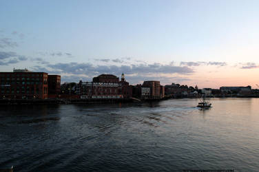 Portsmouth Harbour at sunset by sselfless