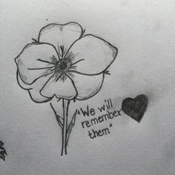 We will remember them.  by zoelilyart