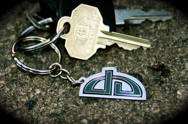 Original dA Logo Keychain by deviantWEAR