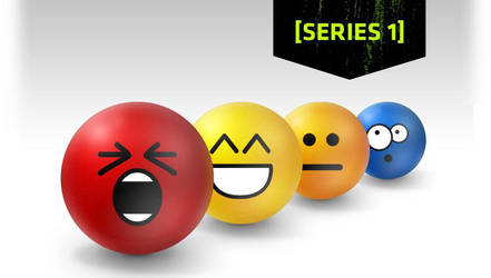 Series 1 Emoticon Stress Balls by deviantWEAR