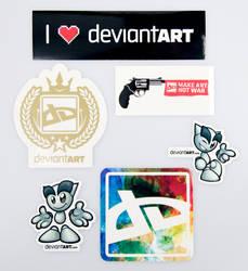 Official dA Sticker Pack II by deviantWEAR