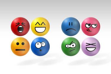 Emoticon Stress Balls Complete Set by deviantWEAR