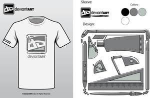 Semi-Finalist: 'dA 2010 Shirt' by deviantWEAR