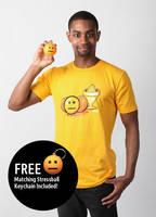 Blank Face Emoticon T-Shirt (Men's) by deviantWEAR