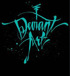 deviant Cursive T-Shirt - Black by deviantWEAR
