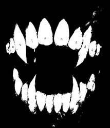 Fangs Hoodie - Black - Small Only by deviantWEAR