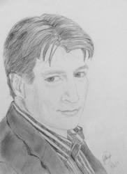 Richard Castle - Drawing by skruffi3