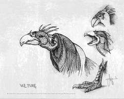 Vulture Scribbling by ArthusokD