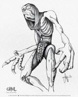 Illustration Ghul Scribbling by ArthusokD