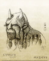 MonsterDesign Gyrger Drawing by ArthusokD