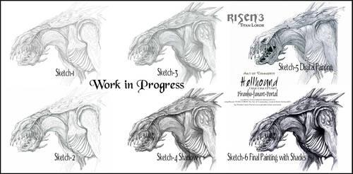 Risen3 Titan Lords  Hellhound Workflow by ArthusokD