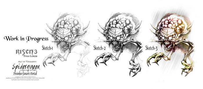 Risen3 Titan Lords Spiderqueen Workflow by ArthusokD