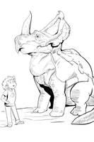 Face it, Melvin. You're a centrosaurus by KidGalactus