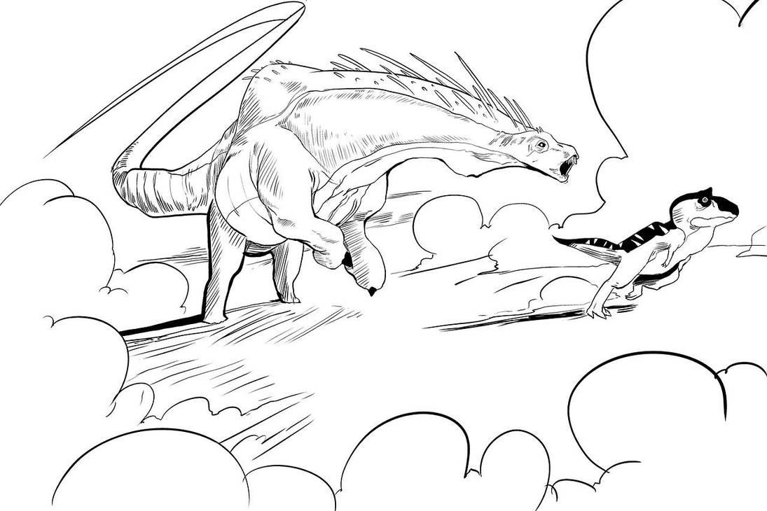 Run, little guy! by KidGalactus