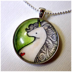 Unicorn Pendant by cellsdividing