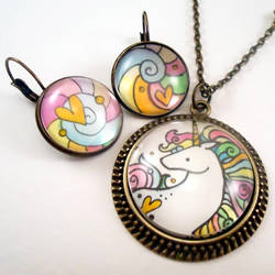 Unicorn And Rainbow by cellsdividing
