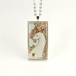 Pink Unicorn Necklace by cellsdividing