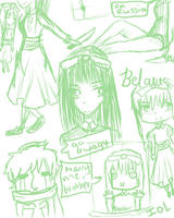 Belarus Sketches by ImOnlyLittle