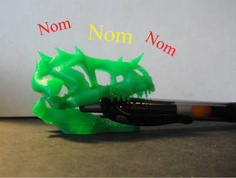 3d printed dino skull...and pen by justjoeaverage