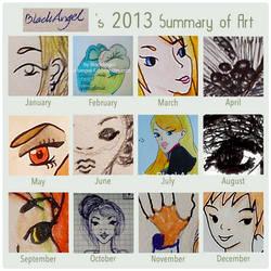 Summary of Art 2013 by BlackAngel by BlackAngel-F