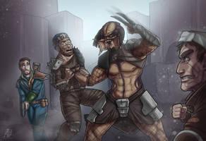 Predator vs Fallout 4 Raiders by Devolist