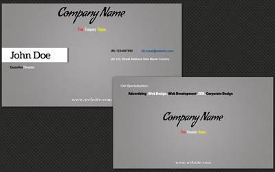 Gray Business Card by colourdrift