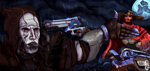 McCree vs Reaper by BAKAFOOLS
