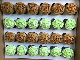 Coffee Cupcakes and Peppermint Chocolate Cupcakes by KirstysCakes