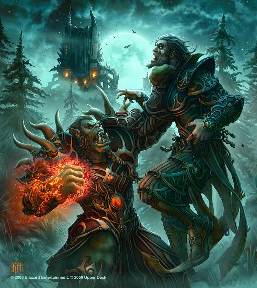 Orc Warlock by kerembeyit