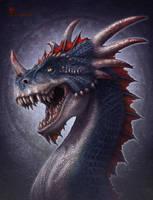 Bloodhorn Dragon by kerembeyit