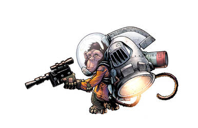 Space Monkey by rachellerosenberg