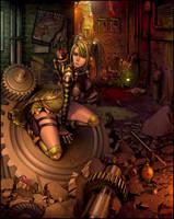 Girl in Dump by Sandfreak