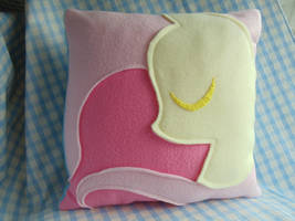 Commissioned MLP Fluttershy MegaSweet Pillow by celina-tamwood