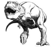 Tyrannosaurus Sketch by Art-Minion-Andrew0
