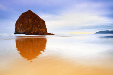 Haystack Rock, III by coulombic