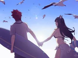 Gift : Ayame and Ryu III by moremindmel0dy