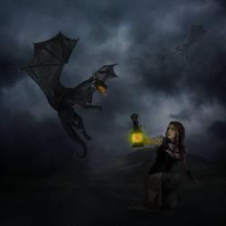 Dragon Hunt by darkcherrydesign
