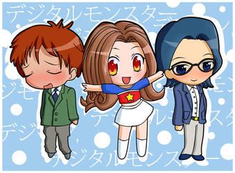 Koushirou+Mimi+Jou by tetiel by digilife-gallery