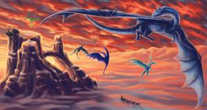 Ice Realm Dragons by OoZepheroO