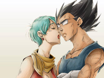 DBZ - Vegebul -Post Boo: Sweet Kiss by RedViolett