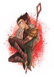 DBZ/DragonAge - Crossover: Vegeta by RedViolett